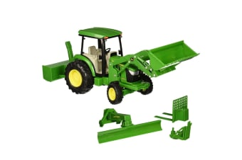 John Deere 1:16 4066R Tractor w/ Loader, Blade & Snow Blower - Sound and Light