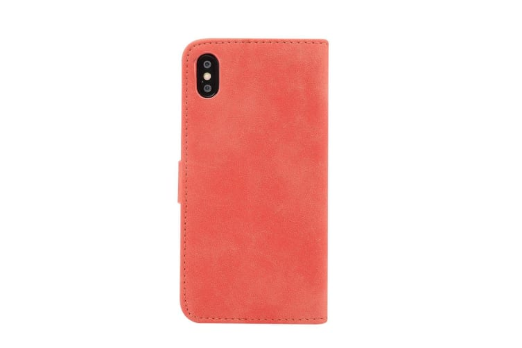 For iPhone XS MAX Cover Leather Wallet Sheep Flip Case 3 Card Slots Red Blue