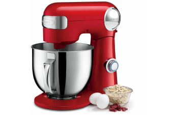 Cuisinart SM-50RA 5.5L Precision Master Stand Mixer Beater w  Whisk Hook Red