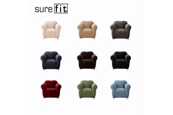 SureFit Pearson One Seater Couch Cover Dark Flax