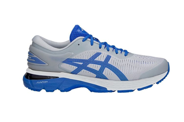 ASICS Men's Gel-Kayano 25 Lite-Show Running Shoe (Mid Grey/Illusion Blue, Size 10.5)