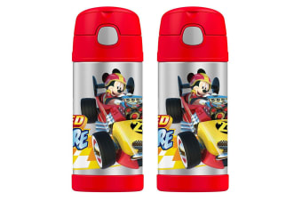 2PK Thermos Funtainer 355ml Insulated Stainless Steel Water Drink Bottle Mickey