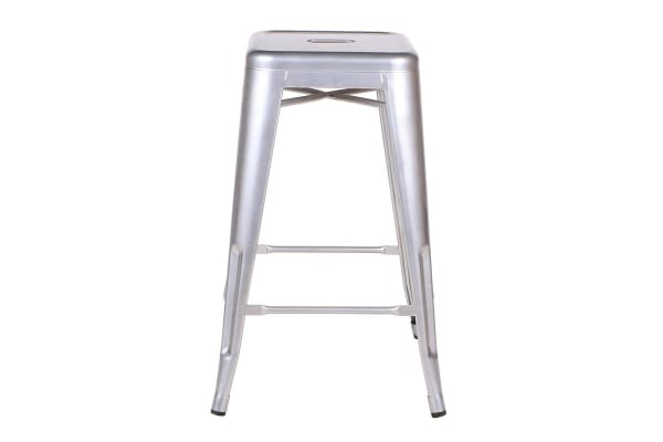 Ovela Set of 4 Tolix Replica 66cm Stools (Silver)