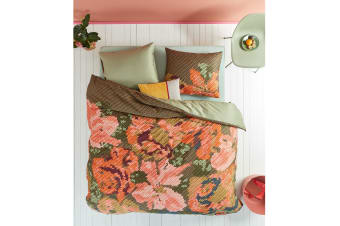 Embroidered Flower Multi Cotton Sateen Quilt Cover Set by Oilily
