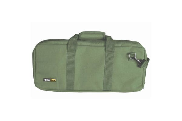 ChefTech 18 Pocket Knife Roll Storage Portable Carry Case w  Strap Handle Olive