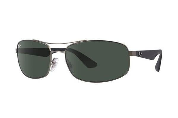 Ray-Ban RB3527 61mm - Matte Gunmetal (Polarised Dark Green lens) Mens Sunglasses