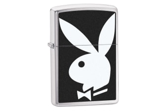 Zippo Playboy Rabbit 28269 Genuine High Polish Chrome Pocket Lighter Windproof