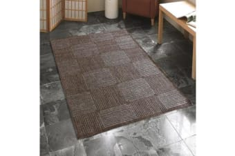 Indoor Outdoor Box Design Rug Brown 220x150cm