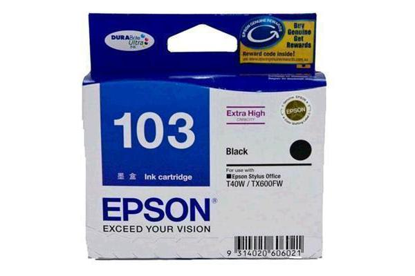 EPSON Ink Cartridge C13T103192 Black Inkjet 995 pages
