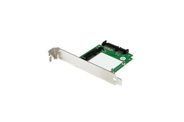 STARTECH SATA to mSATA SSD Adapter w/ Full and Low Profile Brackets - 2.5 SATA to Mini SATA Converter Card