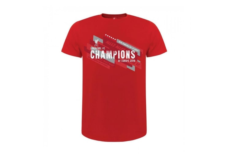 Liverpool FC Childrens/Kids Champions Of Europe T Shirt (Red) (11/12 Years)
