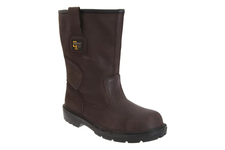 Grafters Mens Waterproof Safety Rigger Boots (Brown) (6 UK)