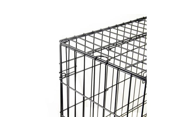"36"" Foldable Metal Wire Dog Cage with Removable Tray"