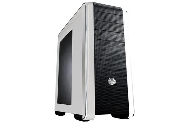 Coolermaster CM693 ATX Case. White with Side Window. 2x USB3.0 + USB2.0, Mesh Front