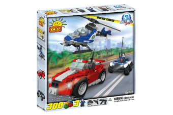 Action Town 300 Piece Police Chase Construction Set