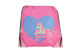 Little Rider Childrens/Kids Show Pony Drawstring Bag (Cameo Pink)