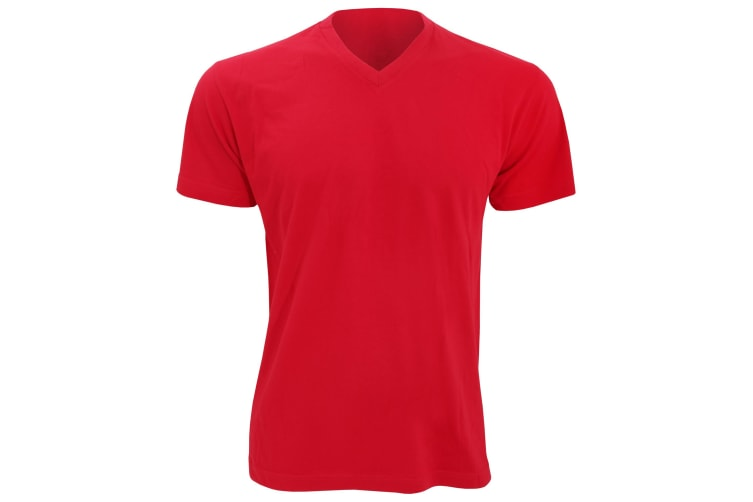 SOLS Mens Victory V Neck Short Sleeve T-Shirt (Red) (XL)