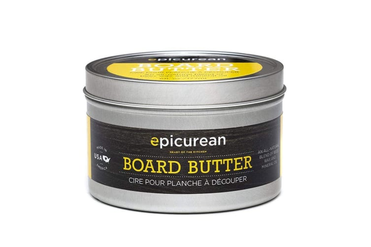 Epicurean Wooden Chopping Board Butter Protection Bees Wax Mineral Oil w  Sponge