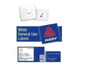 AVERY GENERAL USE L7164 A4 12 LABELS/SHEET 100SH/PK