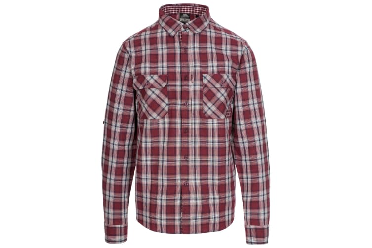 Trespass Mens Shottery Shirt (Merlot Check) (XS)