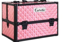 Portable Cosmetic Beauty Make Up Carry Case Box (Pink)