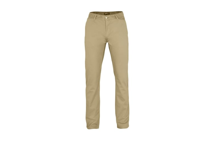 Asquith & Fox Mens Classic Casual Chinos/Trousers (Khaki) (ST)