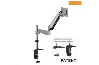 "Brateck Lumi LDT04-C012 13-27"" Counter Balance Gas Spring Arm LCD Desk Mount. Max arm reach 500mm"