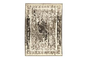 Stylish Overdyed Look Rug Grey 230x160cm