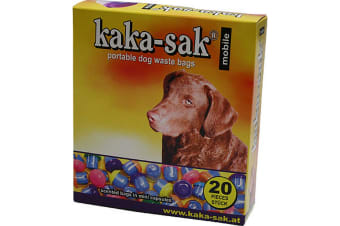 Douglas Petfood Kaka-Sak Scented Dog Poo Bag Mini Capsules (Pack Of 20) (Yellow) (One Size)