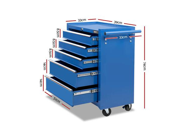 Giantz 14 Drawers Mechanic Tool Box Chest Cabinet Trolley Garage Toolbox Storage