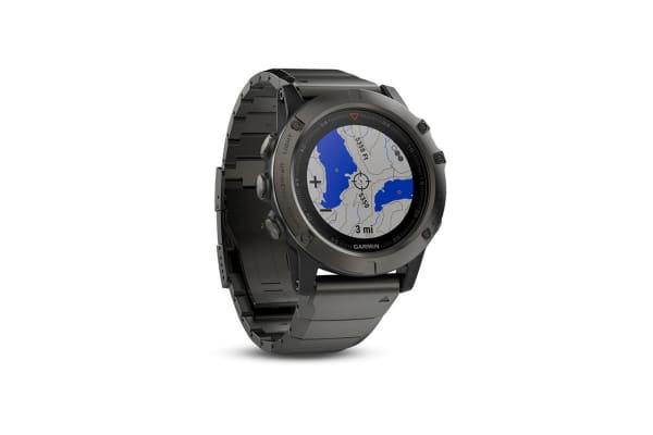 Garmin Fenix 5x Sapphire Edition Slate Gray with Metal Band