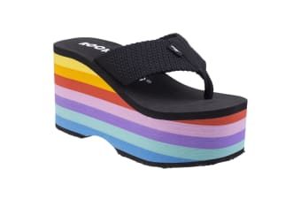 Rocket Dog Womens/Ladies Big Top Wedge Sandals (Black)