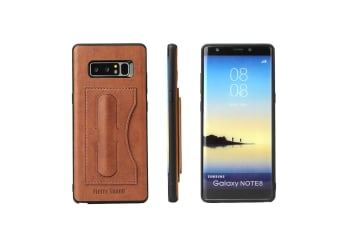 For Samsung Galaxy Note 8 Case Fierre Shann Luxury Durable Shielding Cover Brown