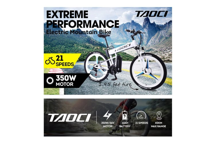 "TAOCI 350W 36V HM Mountain Motorized Bicycle Electric Bike eBike Alloy Frame 26"" Black"