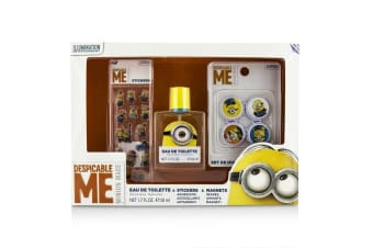 Air Val International Minions Coffret: EDT Spray 50ml/1.7oz + Magnets + Stickers 3pcs