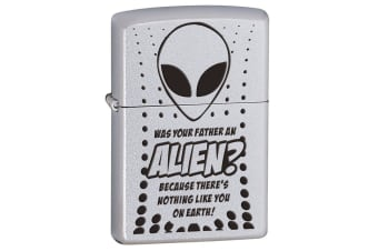 Zippo Was your Father an Alien? Genuine Chrome Finish Cigar Cigarette Lighter