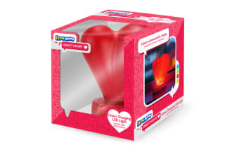 Illumi-Mates Official Childrens/Kids Emoji Colour Changing Bedside Lamp (Sweetheart) (One Size)