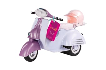 Our Generation Ride In Style Scooter Purple and Blue