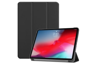 For iPad Pro 11 Inch (2018) Case Black Karst Texture PU Leather Folio Cover