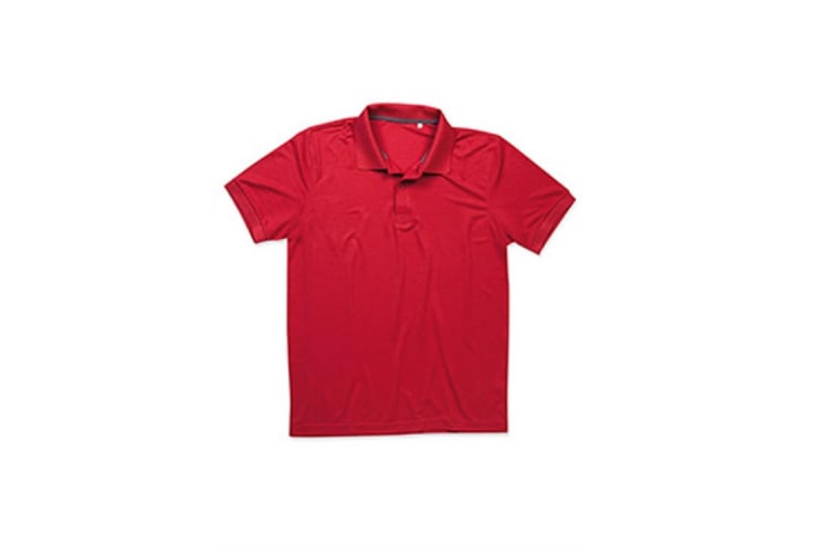 Stedman Mens Active Pique Polyester Polo (Pepper Red) (XL)