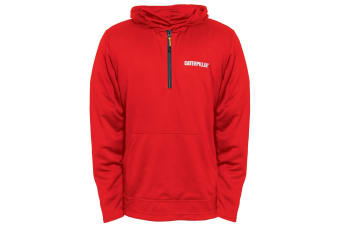 Caterpillar Mens Guardian Hoodie (Red Tide) (Medium)