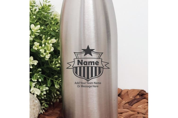 Coach Engraved Stainless Steel Drink Bottle - Silver
