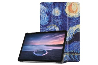 For Samsung Galaxy Tab S4 10 5in Case Starry Sky Printed PU Leather Folio  Cover