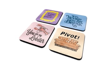 Friends Coaster Set (Pack of 4) (Multicoloured)