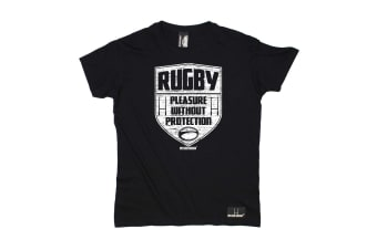Up And Under Rugby Tee - Pleasure Without Protection Mens T-Shirt