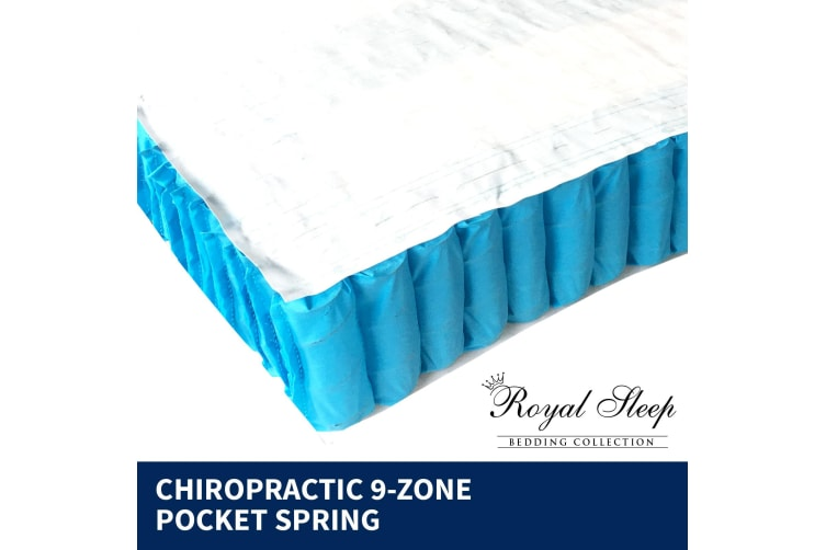 SINGLE Mattress Euro Top 9 Zone Pocket Spring Latex Memory Foam Chiropractic 33C