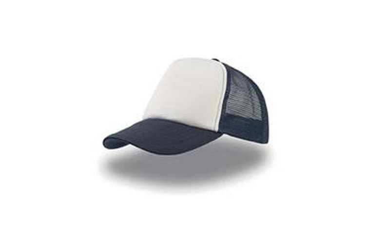 Atlantis Rapper 5 Panel Trucker Cap (Navy/White) (One Size)