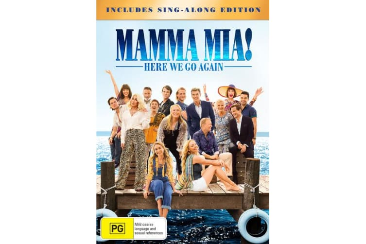 Mamma Mia Here We Go Again with Digital Download DVD Region 4