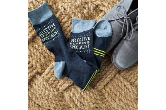 Selective Hearing Specialist Novelty Cotton Men`s Socks
