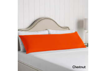 100% Cotton Body Pillowcase Chestnut by Artex